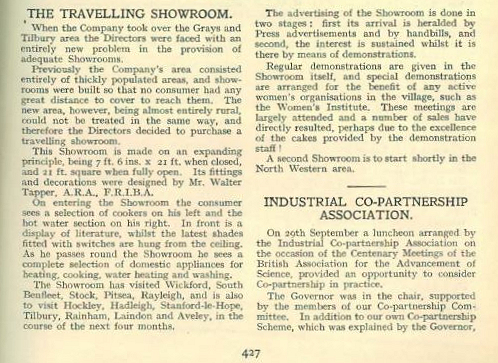 Article describing the travelling Showroom | The National Gas Archive