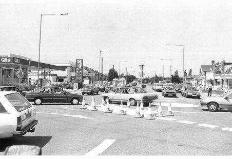 Tarpots mini-roundabouts installed in 1989