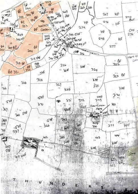 Boyce Hill farm shown on the 1841 tithe map [2]
