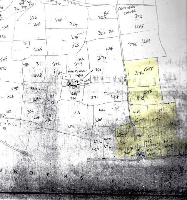 Great Tarpots Farm on 1841 tithe map
