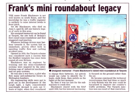 Frank's mini-roundabout legacy