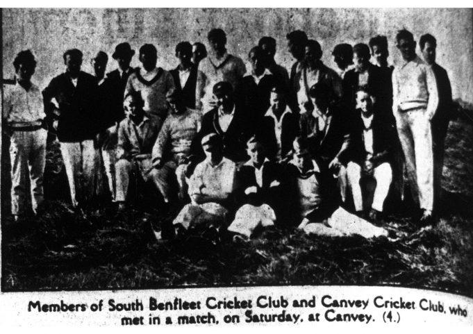 Canvey Island v South Benfleet cricket match   Southend Standard as found by Brian Pettitt
