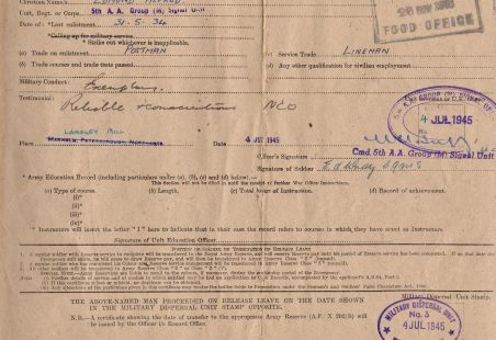 Edmund Alfred Wray postman and veteran of two World Wars. Part 2