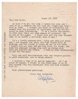 Letter from Ralph Gardner to Mrs Wyles | Stuart Dobson