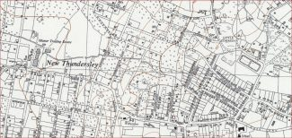 1960 map of the area surrounding Grasmere Road | 'Reproduced with the permission of the National Library of Scotland'