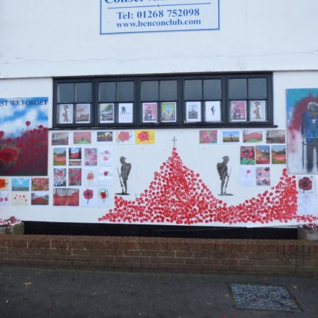 Detail of Benfleet Conservative Club poppy display | Phil Coley