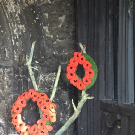 Poppy display inside porch | Phil Coley