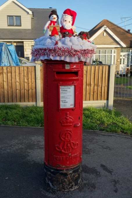 Postbox hat 2020 at the corner of High Road and Clifton Avenue.   Phil Coley