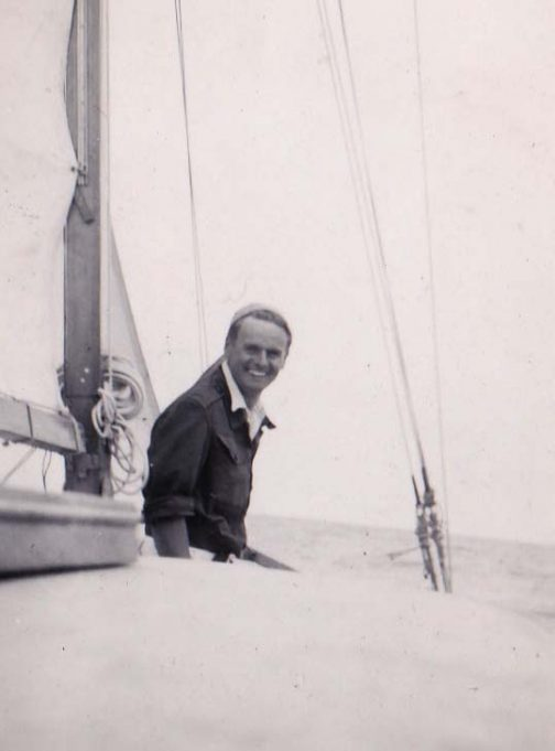 Ken Brown on his boat 'Carefree'