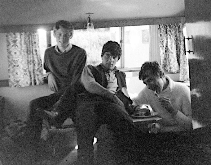 Weymouth caravan 1968; Trev Harwood, Mick Prewer & Pete Kinnaird (photo by Steve Davis) | Steve Davis