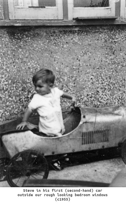 Steve in his first second hand car c1955 | Steve Davis