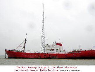 The Ross Revenge moored in the River Blackwater the current home of Radio Caroline   Steve Davis