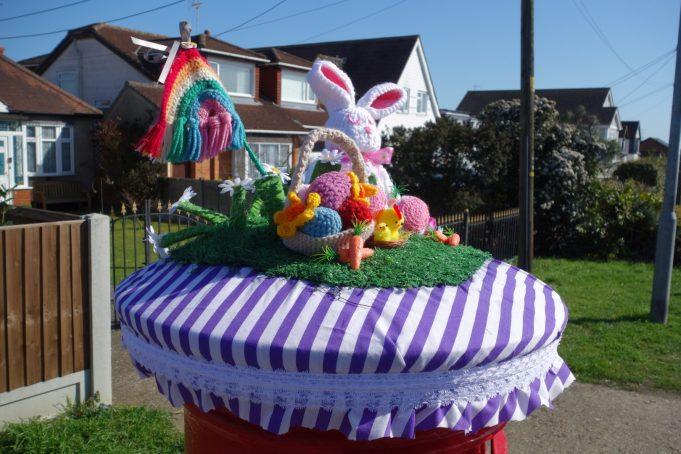 Easter Bonnet for Post Box from the left. | Phil Coley