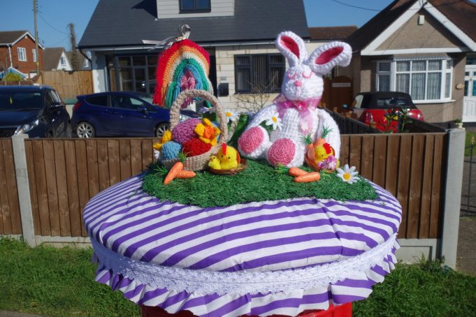Easter Bonnet for Post Box from the front. | Phil Coley