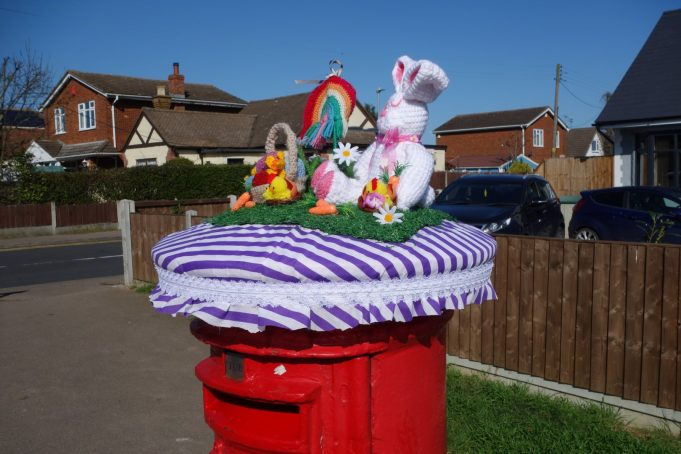 Easter Bonnet for Post Box from the right. | Phil Coley