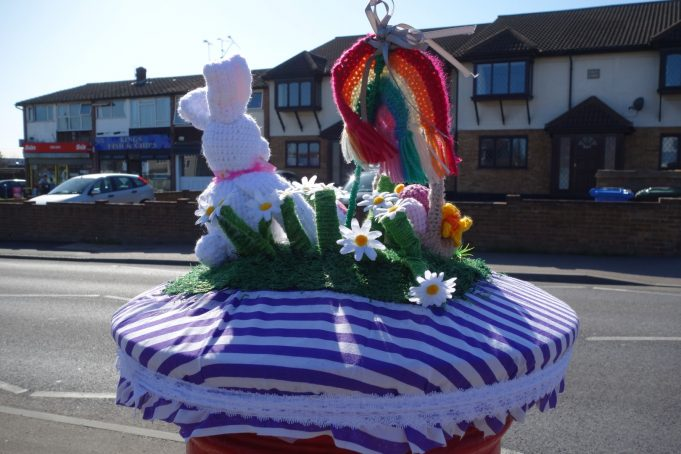 Easter Bonnet for Post Box from the back. | Phil Coley
