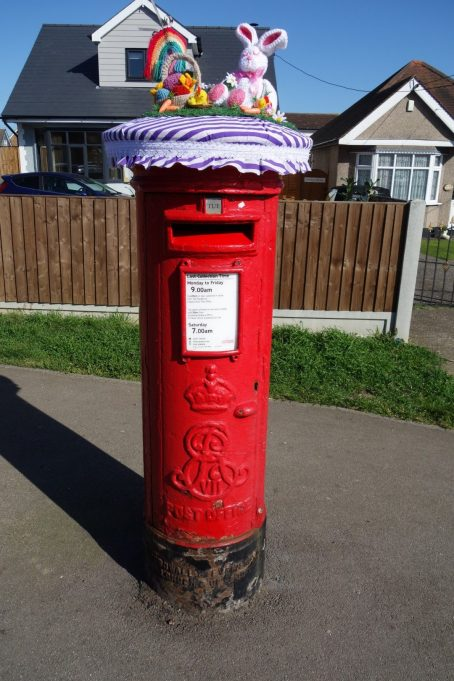 Easter Bonnet for Post Box at the corner of High Road and Clifton Avenue. | Phil Coley