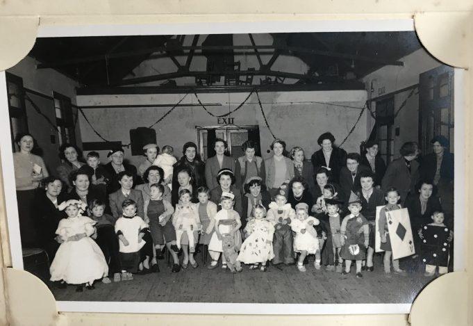 Children's Fancy Dress 1953/4 South Benfleet (possibly St Mary's Church Hall) | Julie Christie