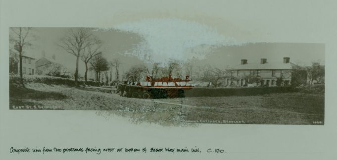 'Mayes' and 'Mayes Cottages' (on the left) and 'Brown's Cottages' (on the right) | Derek & Jane Oliver