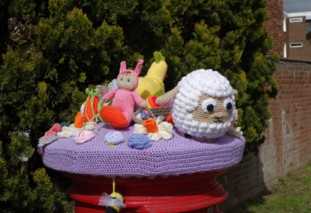 Another Easter Bonnet for a Post Box