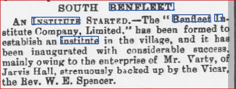 Inauguration of the Institute in 1892 | Essex Chronicle Newspaper Archive
