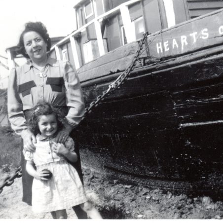 Hearts of Oak houseboat -Patricia Andrew with Grandma Burns | Peter Andrew