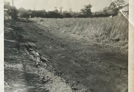 Arundel Road before and after it was developed