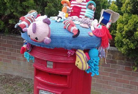 Seaside Hat for Post Box