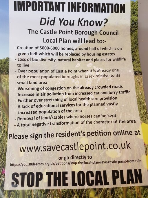 Front of the leaflet delivered to residents of the Borough