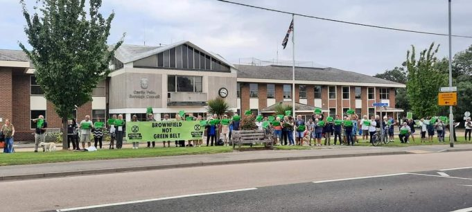 Outside Castle Point Borough Council Offices (Photo courtesy of Tim Copsey)