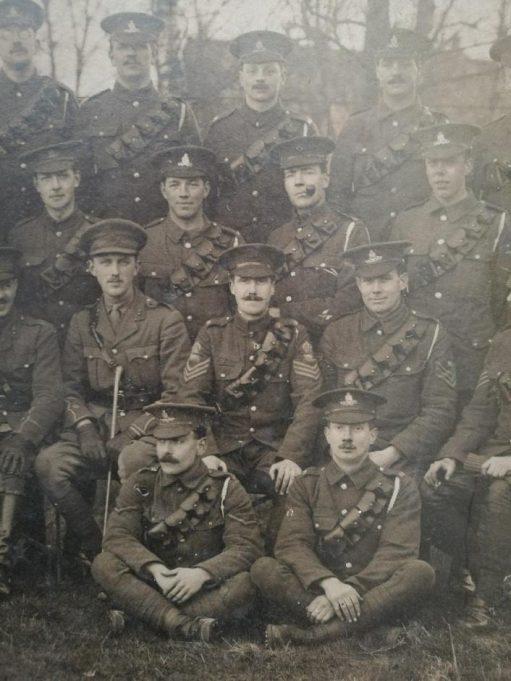 Group photo with Herbert Mills, Great War | Andrew Thrush