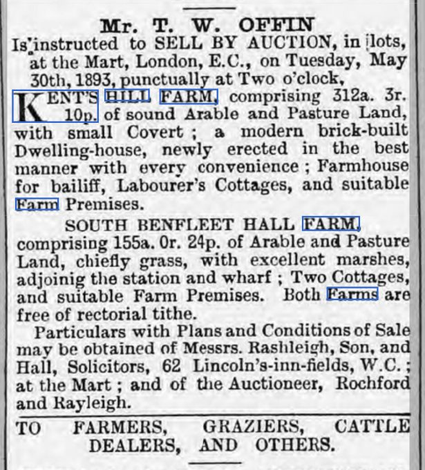 The demise of Kents Hill Farm | British Newspaper Archives